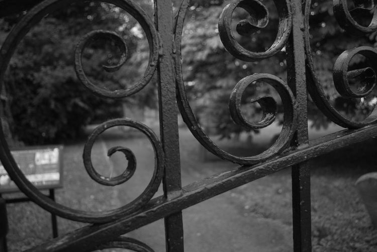 Chuch Gates Circle Close-up Day Gate Metal No People Outdoors Wrought Iron