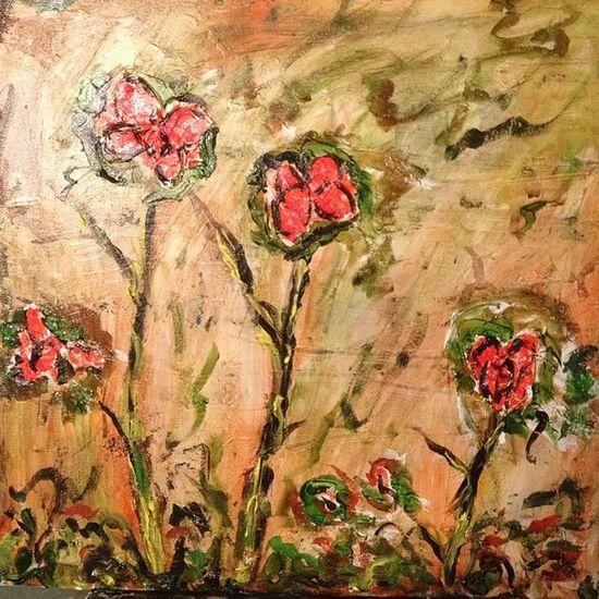 Flores I óleo Art Arte Flower flores negua