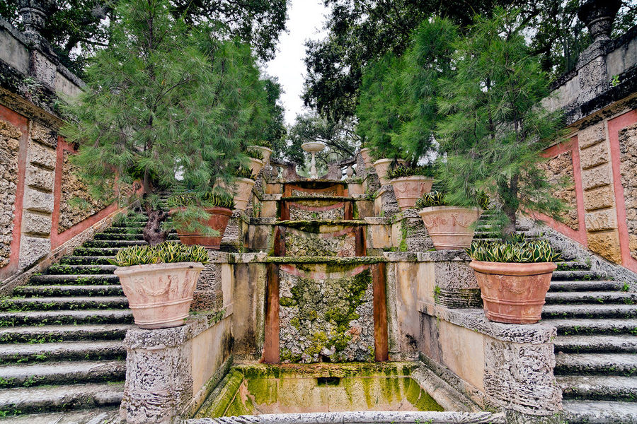 Vizcaya Gardens Architecture Brick Wall Building Exterior Built Structure Day Growth Nature No People Outdoors Plant Sky Tree