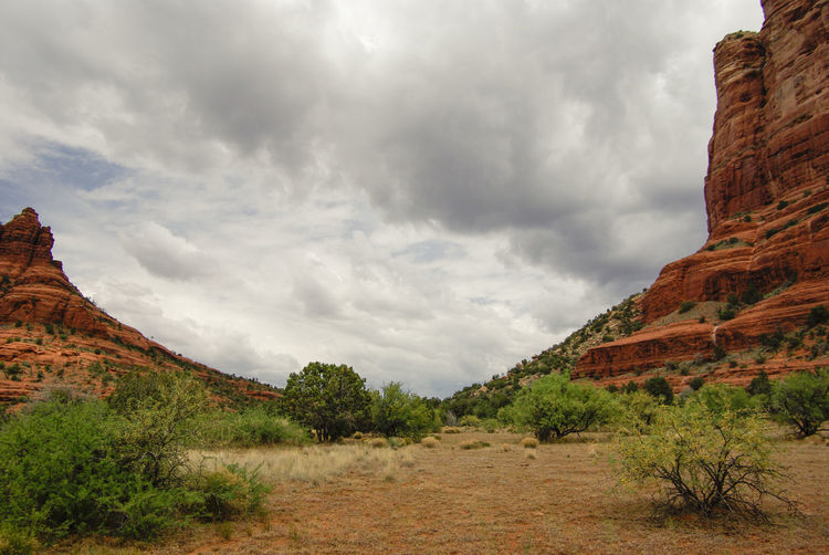 Scenic view of rock formations at red rock canyon national conservation area