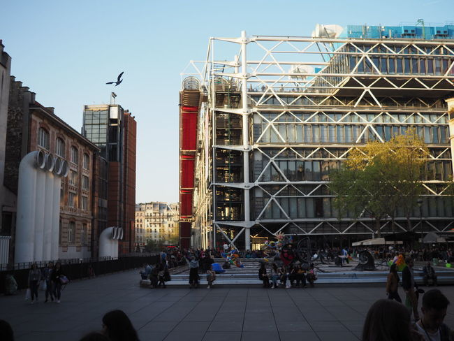 City Sky Large Group Of People Building Exterior Outdoors Architecture Day Adult Paris Pompidou Center People Art Real People Street Sunlight ArtWork