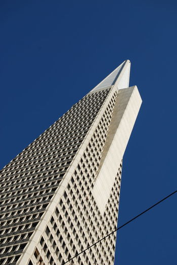Architecture Blue Building Building Exterior Built Structure California City Clear Sky Copy Space Day Low Angle View Modern No People Office Building Outdoors Pyramid San Francisco Sky Skyscraper Tall Tall - High Tower Transamerica Transamerica Pyramid TransAmericaBuilding