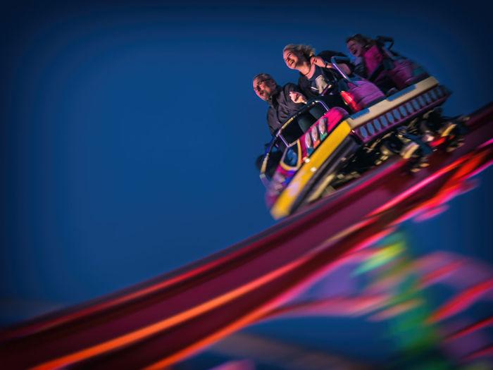 Rollercoaster Fun Colors DOM2018 Feast Fun Heiligengeistfeld Laughing Rollercoaster Colorful Festival People Roller Coaster Smile Speed Speedwagon