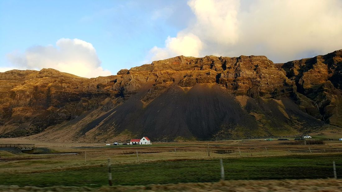 Iceland Travel Vacations Holiday House Golden Sunlight Grass Ice And Fire Autumn Travel Destinations Tourism Mountain Landscape Countryside Peaceful Beauty In Nature Field Agriculture Rural Scene Scenics Nature Hills Sky Rocky Mountains Your Ticket To Europe