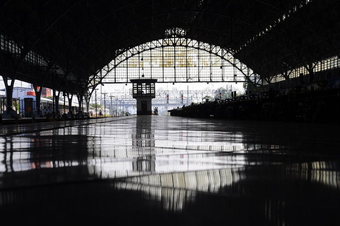 survivor INDONESIA Jakarta Station Arch Architecture Built Structure Day Indoors  No People Pero Reflection Silhouette Transportation Travel Destinations Water The Week On EyeEm Your Ticket To Europe