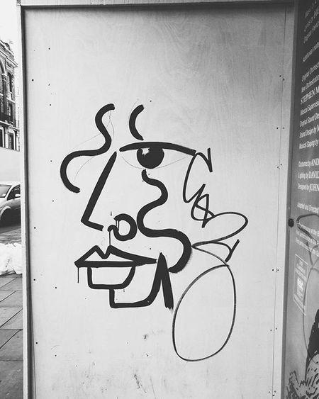 Outside Lesmis - some Streetart that looks very Paris68 - well chosen, tagger VSCO Vscocam Vscolove Vscophile Vscolondon London Theatre Graffiti Centrallondon Androidography Androidonly