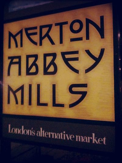 Checking in at Merton Abbey Mills Checking In