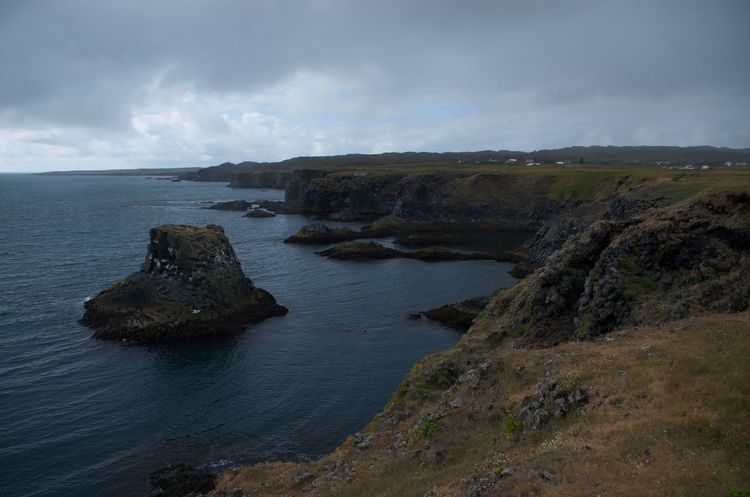Cliff Costline Iceland Sea