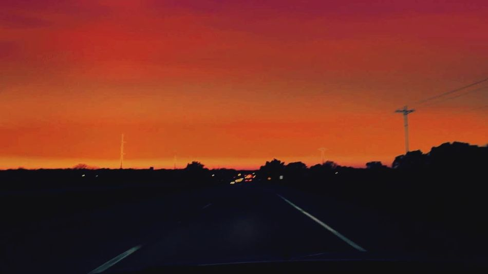 Sunset Silhouette Transportation Road Car No People Mode Of Transport Scenics Sky Beauty In Nature