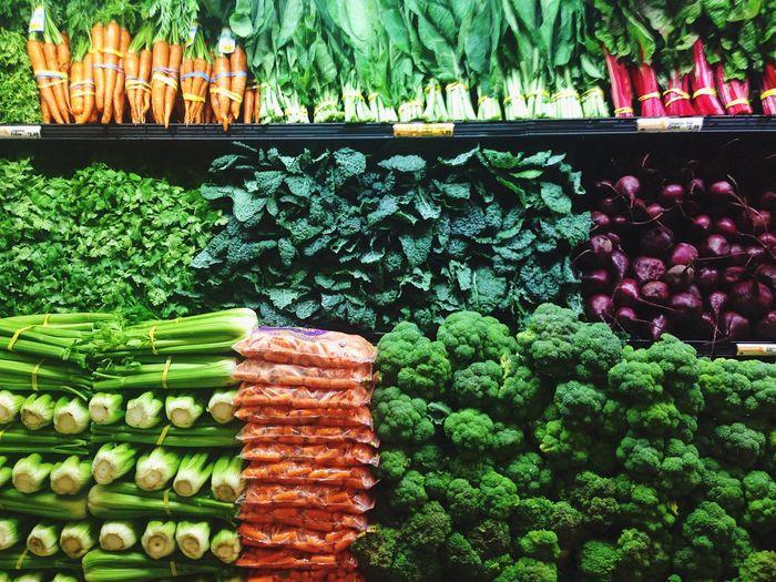 Fresh produce Vegetable Variation Large Group Of Objects Food Abundance Multi Colored Healthy Eating Market Freshness Cucumber Cauliflower Supermarket Fresh Produce Vegetables Food Choice