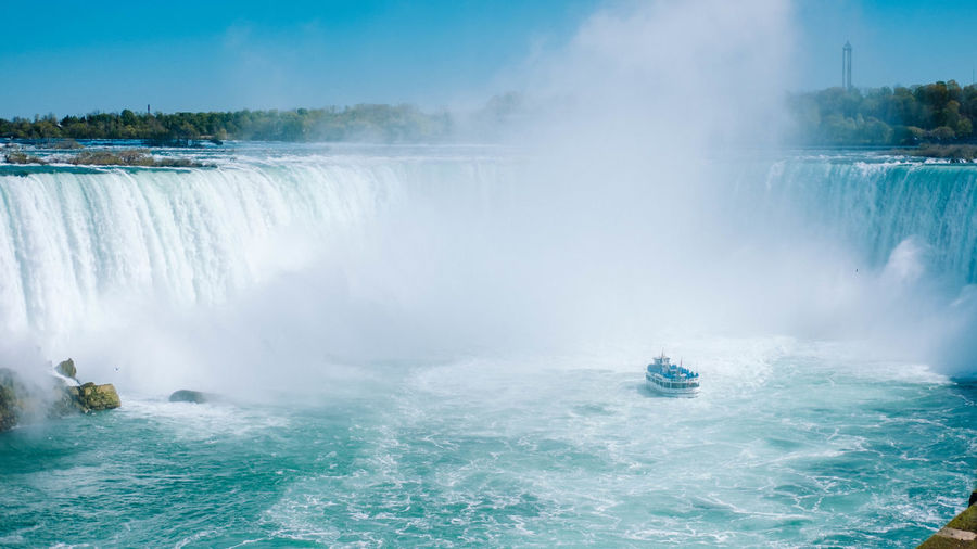 Boat Mist Motion Nature Nature Niagara Niagara Falls Outdoors Power In Nature Scenic Scenics Tourism Destination Tourist Tourist Attraction  Vacations Water Waterfall
