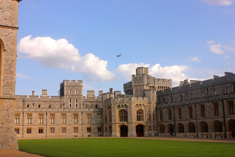 windsor castle Animal Animal Themes Animal Wildlife Animals In The Wild Architecture Bird Building Building Exterior Built Structure Cloud - Sky Day Flying Grass History Nature No People Outdoors Sky The Past Travel Destinations Vertebrate Windsor Castle