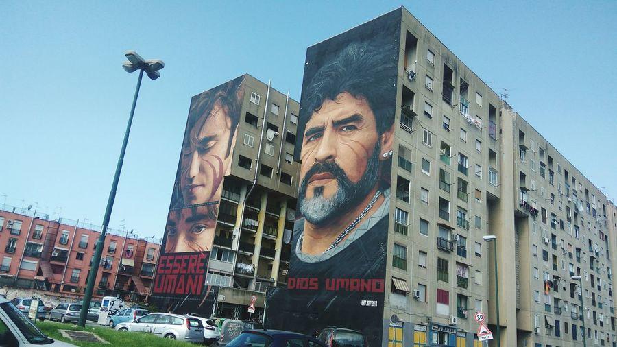 Maradona LamanodeDios Men City Portrait Mid Adult Sky