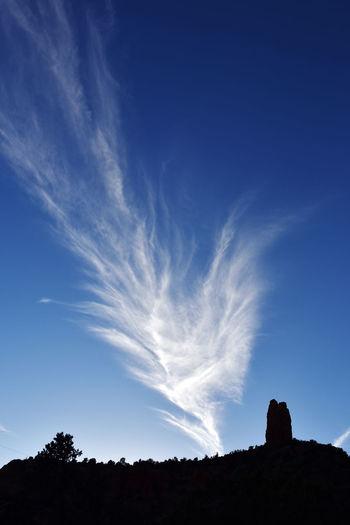 Cloud wisp Blue Cloud - Sky Landscape Nature Silhouette Sky Tranquil Scene Wisp
