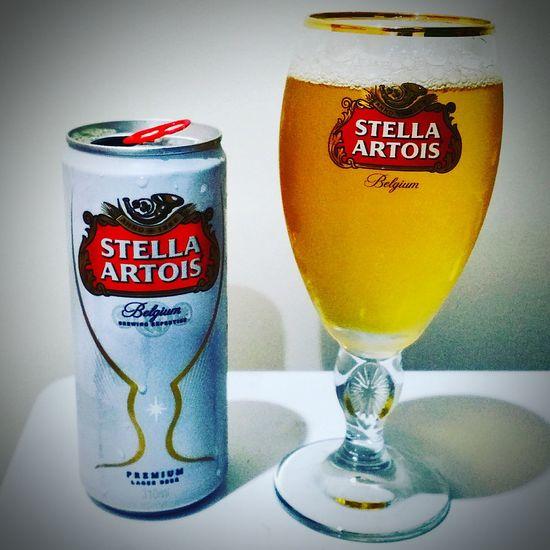 Drink Drinking Glass Two Objects Alcohol Food And Drink Alcoholic Drink Alcool  Adult Adults Only Cerveja Cerveza Beer Time Beer Stella Stella Artois Stellaartois Stellaglass Stellaartoisglass Tasty😋