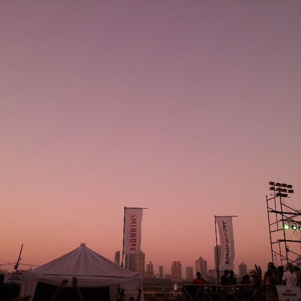 Sunset in Mumbai from the Asot600mum venue Asot600