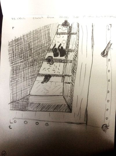 Urban Sketching Tate Modern From Photo Turbine Hall Outreach Workshops My Hobby
