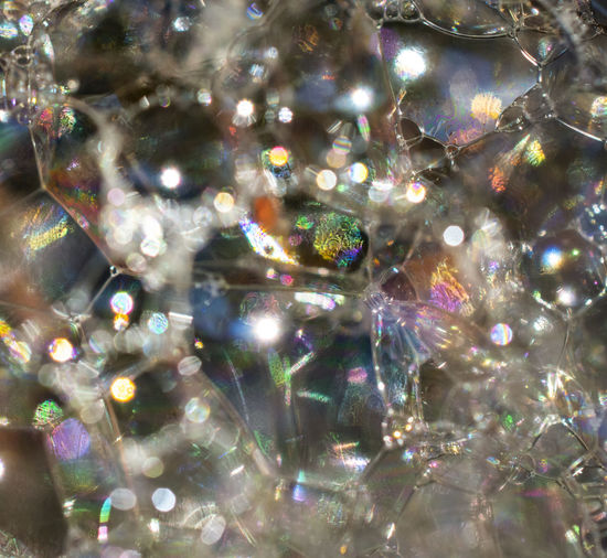 Shiny No People Pattern Decoration Transparent Glass - Material Close-up Multi Colored Indoors  Reflection Still Life Christmas Ornament Bubbles