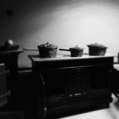 The little vision of the tiny house of Granny Zulema Indoors  Selective Focus No People Stove Food And Drink Shelf Domestic Kitchen
