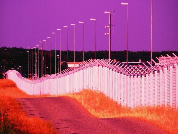 Zaun Hinter Gitter Sicherheit Absperrung Absperrgitter Safety Fence