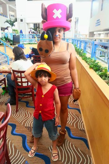 Anime Lover Hobby Anime Luffy Monkey D Luffy One Piece Cosplay Cosplyer Anime Con Cosplaying Cosplayers Japanese Anime Tony Tony Chopper Chopper Convention Metrocon Nephew  Myself
