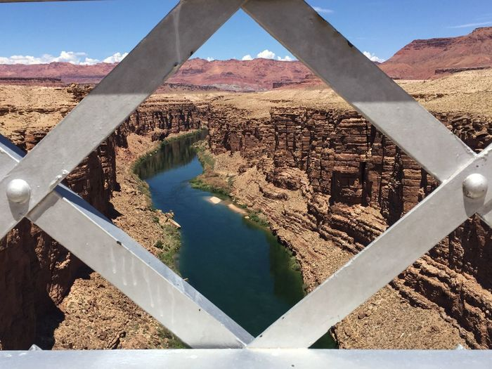 Colorado River Seen From Navajo Bridge At Grand Canyon National Park