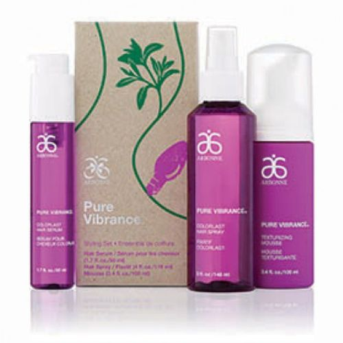 Item : 5484 Arbonne Pure Vibrance Styling Set Holiday shopping or New Year's party? Whatever the occasion, your hair should always shine and look fabulous. Get set on style with super smoothing ColorLast Hair Serum (50 ml) flexible hold ColorLast Hair Spray (148 ml) and volume-building Texturizing Mousse (100 ml). See more at: https://www.arbonne.ca/shop_online/ Holidayshopping Arbonneholiday Onlineshopping veganparabenfreecolorlasthairserumhairspraytexturizingmoosebotanicallybasedstylingsethairhairproductsveganhairproducts