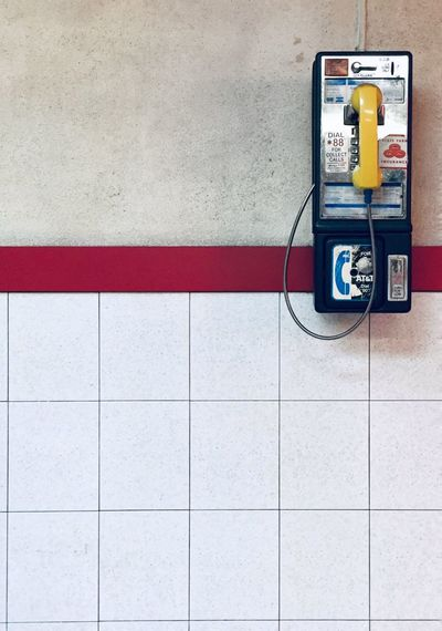 ☎️ Brooklyn Communication Technology Wall - Building Feature Telephone Connection No People Flooring Pay Phone Telephone Receiver Built Structure Retro Styled Architecture Outdoors Analogue Sound