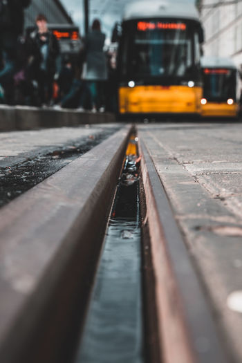 Surface level of tramway