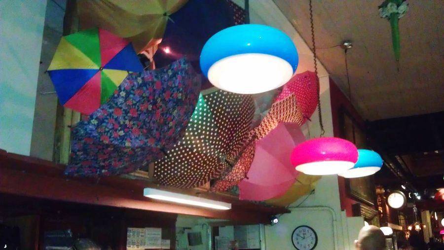 Brazil Multi Colored Hanging Rio Scenarium Umbrellas