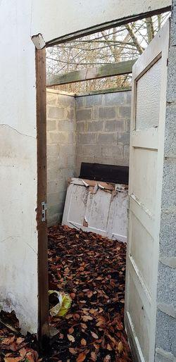 Door Architecture Close-up Built Structure Entryway Open Door Abandoned Damaged