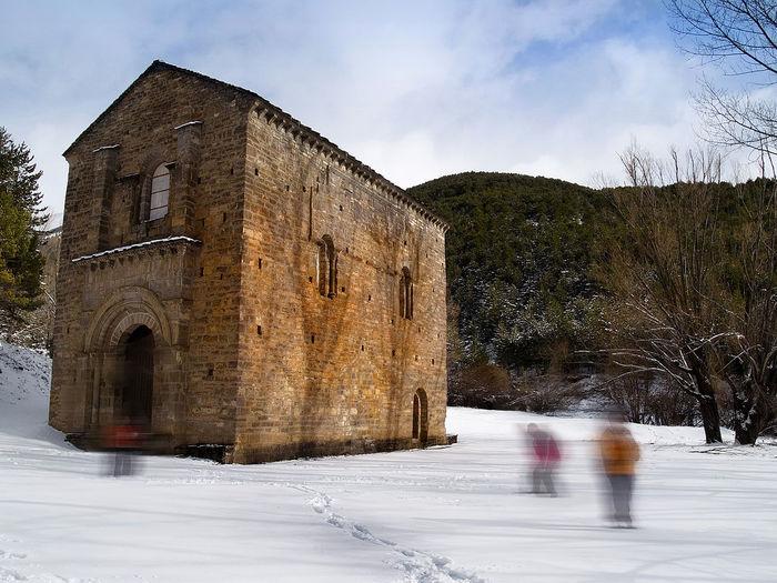 Santa Maria de Iguacel S.XI (Aragón) Altoaragon Igershuesca Winter In The Mountains Huesca Olympus E500 Romanic Church Romanic Architecture Romanico