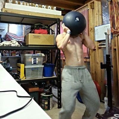 Love me some deadball clean and jerks Crossfit Strongman Fitness Strength Crossfitaustralia Unbroken