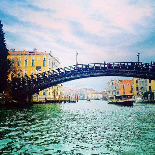 Italy Venice Venezia Bridge Grand Canal Ponte Accademia Landscape Architecture Sightseeing
