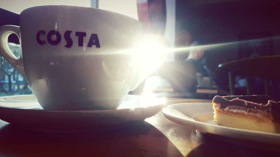 This Is Christmas day 26. Coffee Time Costa Coffee Sunlight Coffee And Cake Me Time!  Still Life Light In Darkness
