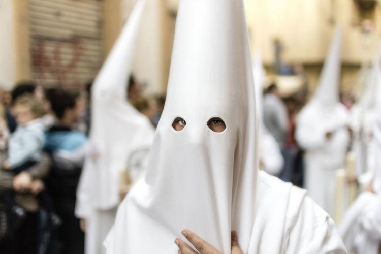 Almería Capuchones Semana Santa Blue Eyes Opworks.org Scare White