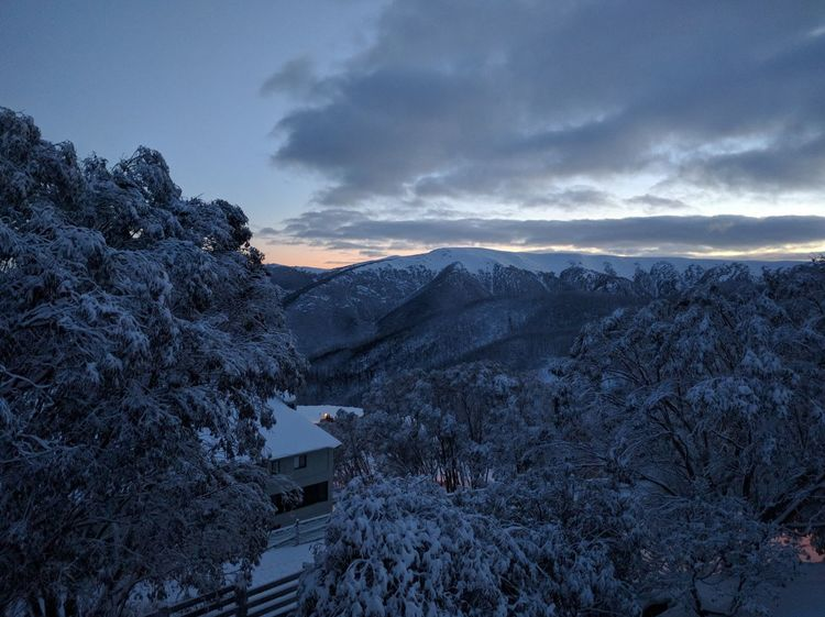 Beatiful photo looking out from the heart of the Falls Creek Village #Australia #Winter #fallscreek #snow #Victoria Australia Winter Fallscreek Snowgum Sunrise First Eyeem Photo Perspectives On Nature