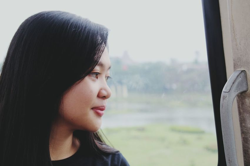Only Women One Person Headshot People Beautiful Woman Young Women Window Women Beauty Beautiful People Day Beauty In Nature Amateur Photography TMII Jakarta Gondola Fly Away Model : Gloria Mandang