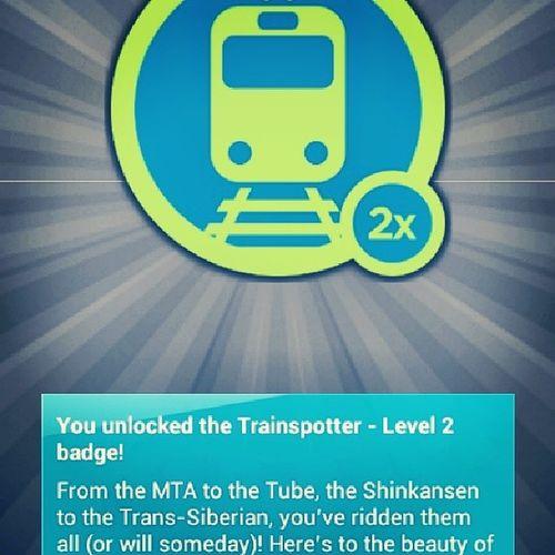 Trainspotter Badge Foursquare 4sqr x2 followme checkin railway station likeme instadaily instaaddict follow4follow like4like
