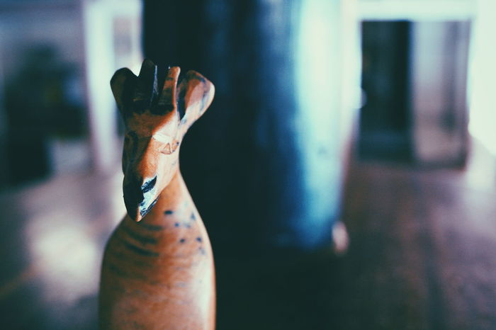 Focus Object Adults Only One Person Adult Human Hand Close-up Figurine  Giraffe Wood Animal WoodArt Wood Animal