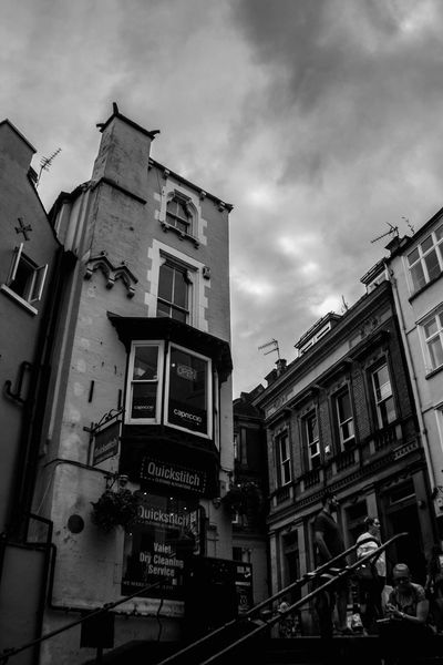 Building Exterior Architecture Built Structure Sky City Outdoors Low Angle View Cloud - Sky Day Black And White Photography Black And White B&w Photography City Architecture Travel Destinations Durham City Durham County Durham