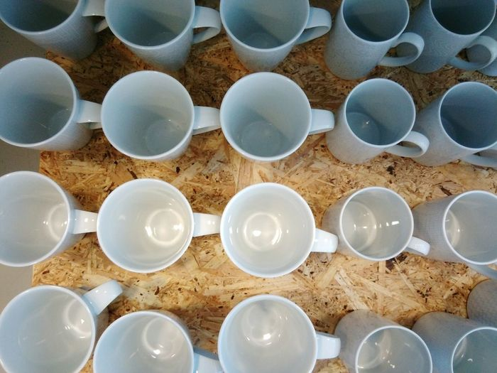 Large Group Of Objects In A Row Full Frame Arrangement Backgrounds High Angle View Repetition Industry Pipe - Tube Close-up No People Clay Indoors  Day