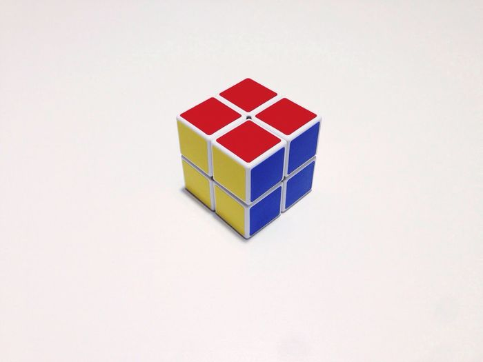White Background Rubik's Cube Multi Colored Geometric Shape When I'm Bored At Home