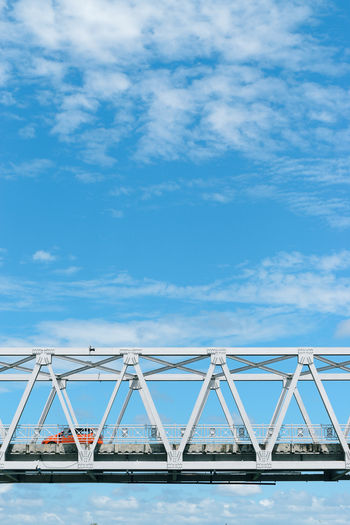 Cloud - Sky Sky Blue Nature Architecture Day No People Built Structure Transportation Water Outdoors Connection Industry Low Angle View Bridge Copy Space Railing White Color Bridge - Man Made Structure EyeEm EyeEm Indonesia