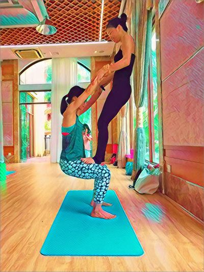 Full Length Lifestyles Women Exercising Sport One Person Young Women Adult Indoors  Healthy Lifestyle Side View Balance Yoga Strength Day Relaxation Exercise Females Young Adult Leisure Activity EyeEmNewHere Human Connection A New Perspective On Life Holiday Moments