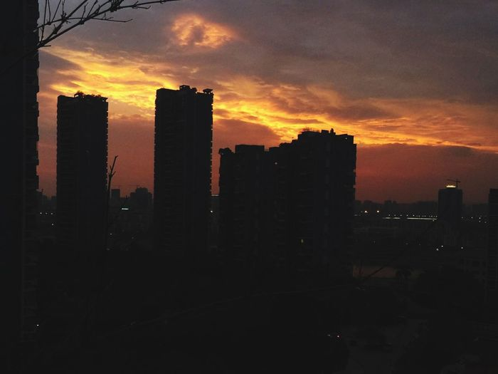 Sunset Building Exterior Sky Built Structure Architecture Orange Color Cloud - Sky