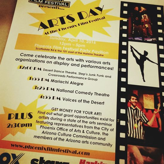 Tomorrow is Arts Day at the PhoenixFilmFestival from 12pm-5pm! PFF2016