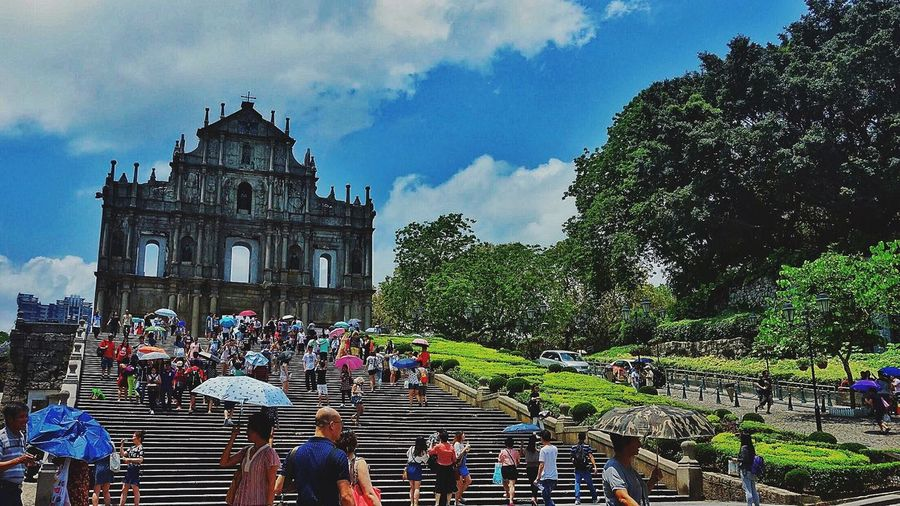 Ruins of St. Paul Cathedral Landmark Macau Stpauls Historical Building The Street Photographer - 2016 EyeEm Awards People And Places Battle Of The Cities
