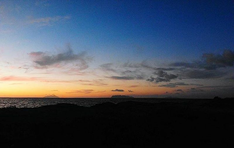 Isole Egadi Italy Sicily Marsala Aegadian Islands Sea Sunset