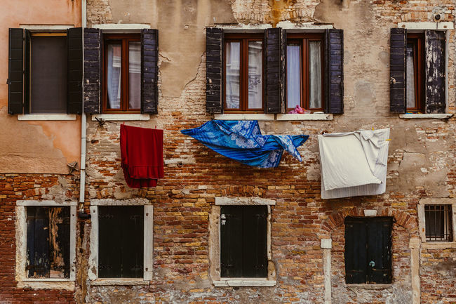 Laundry Abandoned Architecture Building Exterior Built Structure Cloth Clothesline Clothing Day Drying Hanging House Laundry No People Outdoors Textile Window